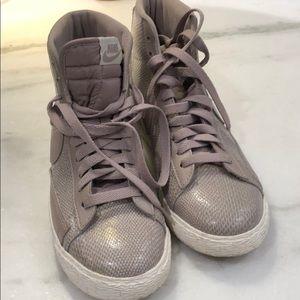 Nike high tops faux snakeskin